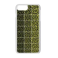Pixel Gradient Pattern Apple Iphone 7 Plus White Seamless Case by Simbadda