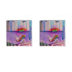 Glitch Art Abstract Cufflinks (square) by Simbadda