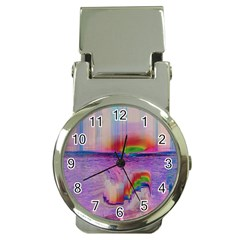 Glitch Art Abstract Money Clip Watches by Simbadda
