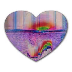 Glitch Art Abstract Heart Mousepads by Simbadda