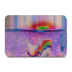 Glitch Art Abstract Plate Mats by Simbadda