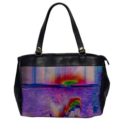 Glitch Art Abstract Office Handbags by Simbadda