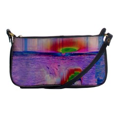 Glitch Art Abstract Shoulder Clutch Bags by Simbadda