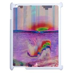 Glitch Art Abstract Apple Ipad 2 Case (white) by Simbadda
