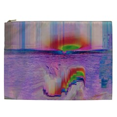 Glitch Art Abstract Cosmetic Bag (xxl)  by Simbadda