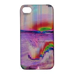 Glitch Art Abstract Apple Iphone 4/4s Hardshell Case With Stand by Simbadda