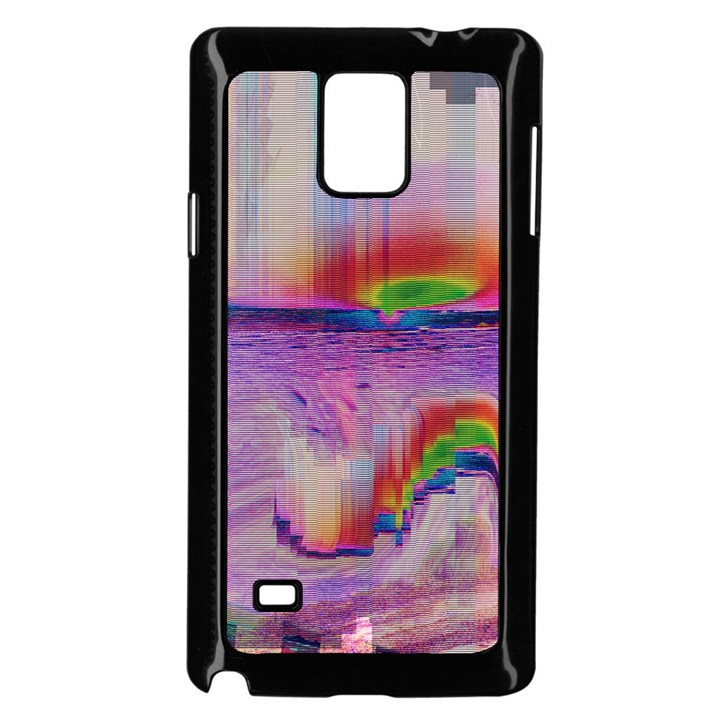 Glitch Art Abstract Samsung Galaxy Note 4 Case (Black)