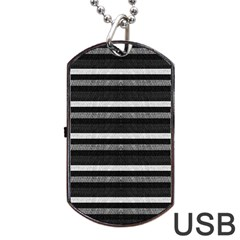 Lines Dog Tag Usb Flash (two Sides) by Valentinaart
