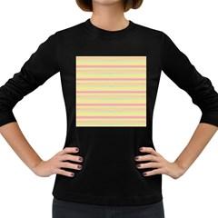 Lines Women s Long Sleeve Dark T Shirts by Valentinaart