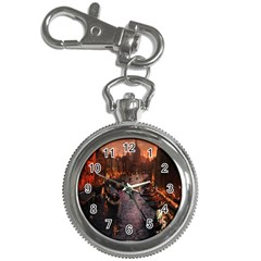 River Venice Gondolas Italy Artwork Painting Key Chain Watches by Simbadda