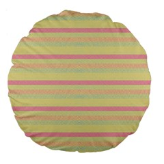 Lines Large 18  Premium Flano Round Cushions by Valentinaart