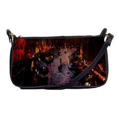 River Venice Gondolas Italy Artwork Painting Shoulder Clutch Bags by Simbadda