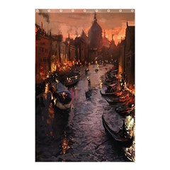 River Venice Gondolas Italy Artwork Painting Shower Curtain 48  x 72  (Small)  by Simbadda