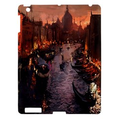 River Venice Gondolas Italy Artwork Painting Apple Ipad 3/4 Hardshell Case by Simbadda