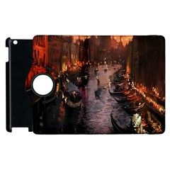 River Venice Gondolas Italy Artwork Painting Apple iPad 2 Flip 360 Case by Simbadda