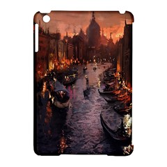 River Venice Gondolas Italy Artwork Painting Apple Ipad Mini Hardshell Case (compatible With Smart Cover) by Simbadda