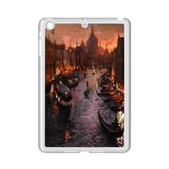 River Venice Gondolas Italy Artwork Painting Ipad Mini 2 Enamel Coated Cases by Simbadda