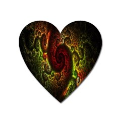 Fractal Digital Art Heart Magnet by Simbadda