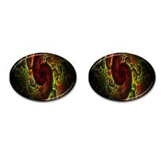 Fractal Digital Art Cufflinks (oval) by Simbadda