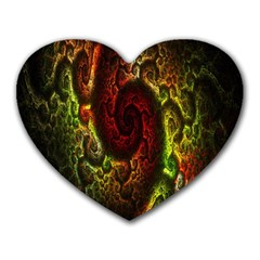 Fractal Digital Art Heart Mousepads by Simbadda
