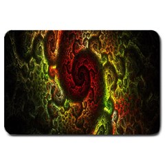 Fractal Digital Art Large Doormat  by Simbadda