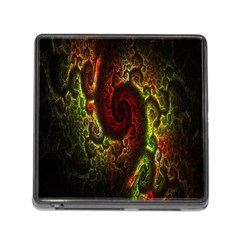 Fractal Digital Art Memory Card Reader (square) by Simbadda