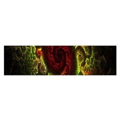 Fractal Digital Art Satin Scarf (oblong) by Simbadda