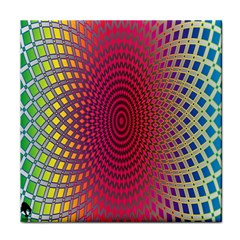 Abstract Circle Colorful Tile Coasters by Simbadda