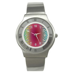 Abstract Circle Colorful Stainless Steel Watch by Simbadda