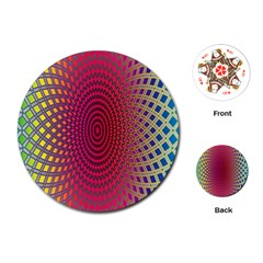 Abstract Circle Colorful Playing Cards (round)  by Simbadda