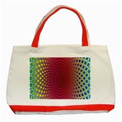 Abstract Circle Colorful Classic Tote Bag (red) by Simbadda