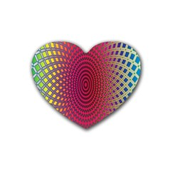 Abstract Circle Colorful Rubber Coaster (heart)  by Simbadda