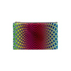 Abstract Circle Colorful Cosmetic Bag (small)  by Simbadda