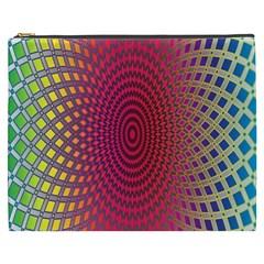 Abstract Circle Colorful Cosmetic Bag (xxxl)  by Simbadda
