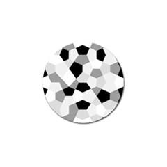 Pentagons Decagram Plain Triangle Golf Ball Marker (4 Pack) by Alisyart