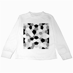 Pentagons Decagram Plain Triangle Kids Long Sleeve T Shirts by Alisyart