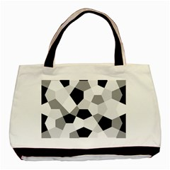 Pentagons Decagram Plain Triangle Basic Tote Bag by Alisyart