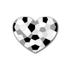 Pentagons Decagram Plain Triangle Rubber Coaster (heart)  by Alisyart