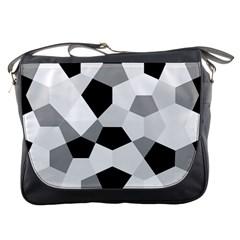 Pentagons Decagram Plain Triangle Messenger Bags by Alisyart