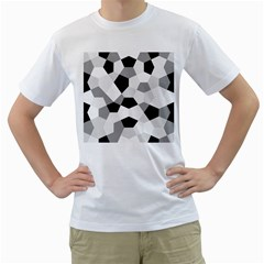 Pentagons Decagram Plain Triangle Men s T Shirt (white)  by Alisyart