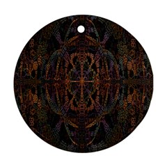 Digital Art Round Ornament (two Sides) by Simbadda