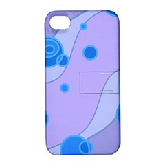 Purple Wave Circle Blue Apple Iphone 4/4s Hardshell Case With Stand by Alisyart