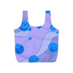 Purple Wave Circle Blue Full Print Recycle Bags (s)  by Alisyart