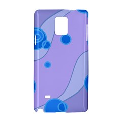 Purple Wave Circle Blue Samsung Galaxy Note 4 Hardshell Case by Alisyart
