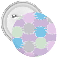 Pineapple Puffle Blue Pink Green Purple 3  Buttons by Alisyart