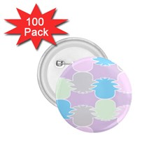 Pineapple Puffle Blue Pink Green Purple 1 75  Buttons (100 Pack)  by Alisyart