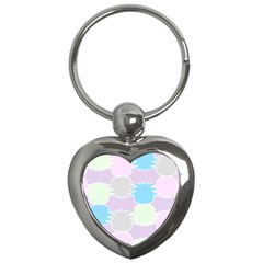 Pineapple Puffle Blue Pink Green Purple Key Chains (heart)  by Alisyart
