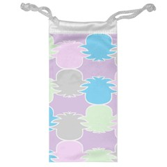 Pineapple Puffle Blue Pink Green Purple Jewelry Bag by Alisyart