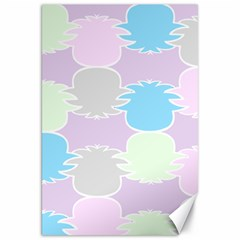 Pineapple Puffle Blue Pink Green Purple Canvas 20  X 30   by Alisyart
