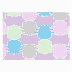 Pineapple Puffle Blue Pink Green Purple Large Glasses Cloth (2 Side) by Alisyart